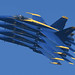 The Blue Angels perform an Echelon Parade at the Fleet Week San Francisco Air Show.