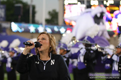 Barbara Green Sings Our National Anthem (NUbands) Tags: b1gcats chicago evanston florida footballinparadise illinois nu2020 numb northwestern northwesternuniversity northwesternuniversitywildcatmarchingband outbackbowl tampabay band marchingband music students