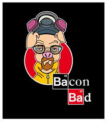 Bacon Bad Logo (ed667) Tags: baconbad foodtruck adobeillustrator ed667