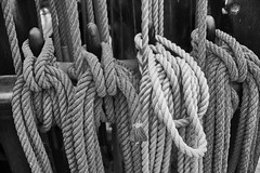 Discovery 6 (aylmerqc) Tags: rrsdiscovery discovery ship sail boat antarctic royalresearchship research polar scott shackleton drydock museum dundee scotland bw blackandwhite fujifilm xe1 fujinon1855mm
