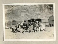 Beach Huts, The Beach, Bournemouth, Dorset (Alwyn Ladell) Tags: dorset 1930 photographalbum beachhuts thebeach bournemouth