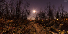 Walking in the moonlight (AngryTheInch42) Tags: moon moonlight kiruna pleiades stars astronomy astrophotography sweden arctic