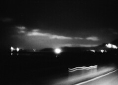l'ivresse de la route (asketoner) Tags: road iceland night blur driving drive sea mountains sky clouds speed slide