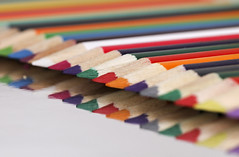 Pencils - HMM :) (Skyline:)) Tags: ppep colour colourful red orange blue pink purple white reflection reflections green
