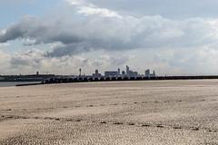 Liverpool Skyline from New Brighton Beach. (scubaclogger) Tags: beach skyline cityskyline cityscape merseyside newbrighton liverpool
