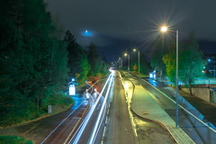 Haugerud (morten f) Tags: haugerud oslo buss 79 79bussen night kveld norge norway light trafikk traffic trail road vei