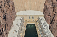 Base of Hoover Dam (dr_marvel) Tags: nevada arizona dam hoover cement concrete hooverdam power hydroelectric electricity cliff stone