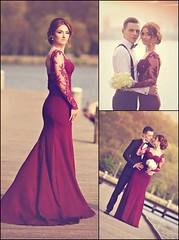 Mermaid Prom/Evening Dress (maweiyu) Tags: mermaid prom dress evening burgundy sweetheart sweep train