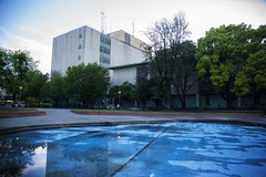 Court (Michael Brooking Photography) Tags: court courthouse san joaquin county teal michaelbrookingphotography reflection trees sky