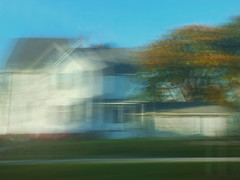 1/16 (nikaylasnyder) Tags: architecture home house motion blur long exposure swirl landscape trees homes houses mcdonalds blue skies fall autumn filter