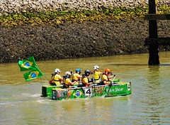 Raft Race 1 (teaselbrush) Tags: newhaven east sussex uk england british seaside town coast coastal urban ouse river murky dank seaweed barnacles green slime slimy mud tidal raft race 2016 lewes tradition folklore bright colours
