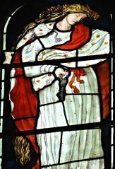 [45666] St Editha, Tamworth : Marmion Windows (Budby) Tags: tamworth staffordshire church window stainedglass preraphaelite