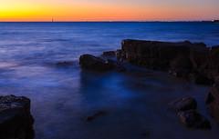 Black Rocks (djryan78) Tags: rock victoria landscape sunset sigma dslr water evening outdoor canon longexposure 24105 rocks clear blackrock australia portphillip sigma24105 melbourne 6d canon6d smooth spring sky seascape portphillipbay dusk bay sea