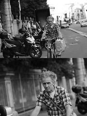 [La Mia Citt][Pedala] (Urca) Tags: milano italia 2016 bicicletta pedalare ciclista ritrattostradale portrait dittico nikondigitale mir bike bicycle biancoenero blackandwhite bn bw 89588