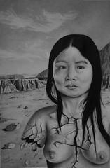 Voces olvidadas (isma.jdc) Tags: grafito dibujo lpiz blancoynegro mujer arte obra cuadro desnudo