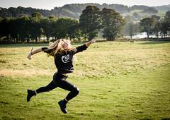 Run, Becca, Run.... (littlestschnauzer) Tags: run fun ysp yorkshire sculpture park countryside parkland 2016 autumn teen daughter action shot running october uk green leap leaping female energy energetic nikon d7200