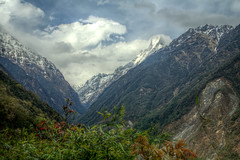Calm After the Storm (pbr42) Tags: nepal mountain mountains nature valley annapurna hdr modi machapuchare