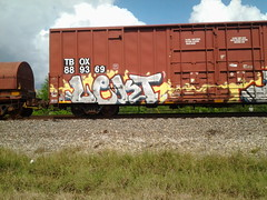 Lekt (HOUSTON STREETS) Tags: houston graffit freight lekt
