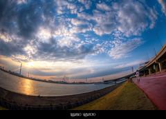 May 4, 2013 (Takahiro Yamamoto (2nd account)) Tags: sunset   kasai    arakawariver edogawaward aiaffisheyenikkor16mmf28d
