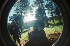 chillin in the forrest (FatherRojo) Tags: 35mm lomo lomography fisheye lomofisheye
