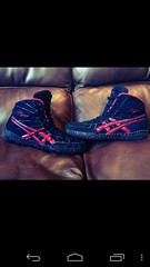 Red Rulons (nchristine15) Tags: red nike adidas asic wrestlingshoe rulons flickrandroidapp:filter=none