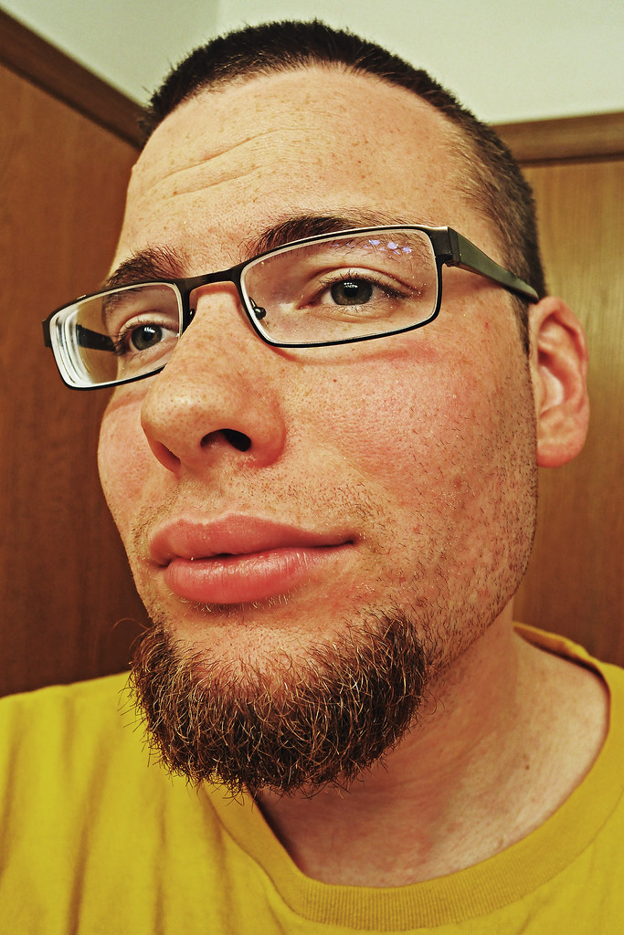 S Male Glasses And Goat Beard