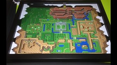 Zelda A link to the past 3d world map diorama (Wuppes3000) Tags: game classic paper video 3d map retro nostalgia link zelda 8bit past papercraft alinktothepast wuppes