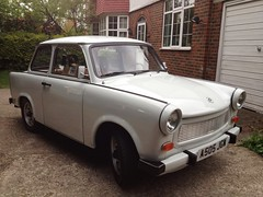 1984 TRABANT 601S (Yugo Lada) Tags: old white classic cars car photo nice retro clean 1984 vehicle rare trabant 601s uploaded:by=flickrmobile flickriosapp:filter=nofilter a505jgw