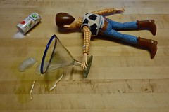 On Cinco de Mayo Woody Finds Himself Wasted Away in Margaritaville (ricko) Tags: ice glass wasted doll salt woody saltshaker margarita spill cincodemayo jimmybuffet werehere mdpd2013 mdpd1305