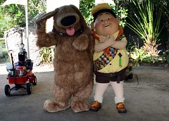 Dug and Russell (MrDizneyKing) Tags: world vacation smile up animal kids happy orlando epcot russell florida disneyland character magic kingdom disney mickey disneyworld hollywood studios dug walt greet fantasyland squirrl mrdizneyking