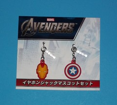 Avengers Earphone Jack Mascot Set (chujohime) Tags: ironman marvel captainamerica avengers