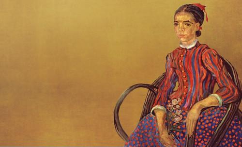 """La Mousmé, estilización de Vincent van Gogh (1888), transpolación de Pablo Picasso (1937). • <a style=""""font-size:0.8em;"""" href=""""http://www.flickr.com/photos/30735181@N00/8815618240/"""" target=""""_blank"""">View on Flickr</a>"""