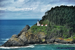 Heceta Head Lighthouse - Florence, OR. (GeneInman.com) Tags: ocean travel trees summer vacation sky lighthouse mountain topv111 forest wow landscape photography interesting topv555 rocks flickr waves village gene side wide professional mount most crop thai mostinteresting pacificnorthwest fav inman worldtravel aroundtheworld travelphotography w0w eyefi wetraveltheworld nikond800 orroadtrip lifefromasuitcase ipadedit snapseed genesfavs hecetaheadlighthouseflorence genestravel