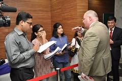 British Cabinet Minister Eric Pickles visits Kolkata (UK in India) Tags: urban hotel cabinet management infrastructure environment kolkata communities built minister iihm ericpickles