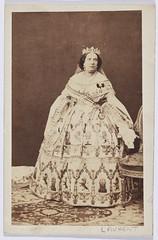 """Jean Laurent., """"La reina Isabel II"""" (carte de visite, ca. 1860) (Museo del Romanticismo) Tags: jean museo historia laurent xix fotografa siglo romanticismo"""