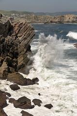 CFR3026 Mirador Playa Salinas (Carlos F1) Tags: nikon d300 principado asturias mirador playa salinas beach view mar sea sand arena rock roca cliff acantilado principadodeasturias spain peona