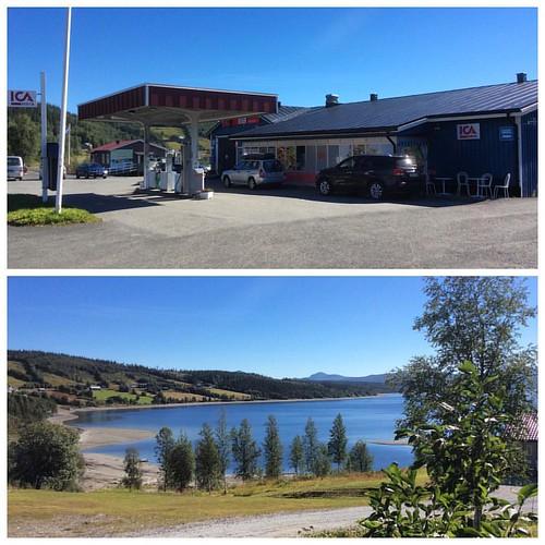 När ni åker #Vildmarksvägen finns ICA Nära i Stora #Blåsjön men all tänkbar service.