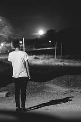 (Elena Candeliere) Tags: boy moon blakandwhite shadow shade ground cigar cigarette eos
