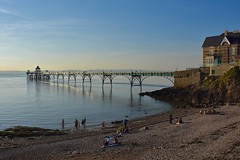 Summer evening (Nige H (Thanks for 6m views)) Tags: nature landscape pier beach sea channel bristolchannel summer somerset clevedon england summerevening