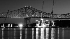 Replacement (Lojones13) Tags: tappanzeebridge hudsonriver night reflections replacing lights water nikon d5000 newyork westchester