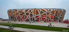 Bird Net - Olympic Stadium (Val Guid'Hall) Tags: beijing pkin chine china stadium olympic birds net games asie asia sports capital architecture outdoor landscapes 2016 forbidden city cit interdite tower observation park green lights trails highway dof water cube
