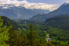 Tantalus Lookout (CAN Photo) Tags: travelandtourism tantaluslookout highviewpoint water mountains snowcappedmountains outdoor britishcolumbia seatoskyhwy trees whistler adventure travel forest seatoskyhighway midday canada vancouver green