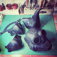 This is what we do at www.dieselpunk.ro and we love it. Our customers love it too as it seems we can hardly keep up with the orders. #Cyberpunk #CyberGoth #postapocalyptic #postapocalypse #steampunk #steampunkmask #leathermask #handmade #LARP #dieselpunk (tovlade) Tags: face mask cyberpunk cyber goth make up goggles girl punk postapocalyptic postapocalypse black steampunk leather hand made larp cybergoth dieselpunk plague doctor