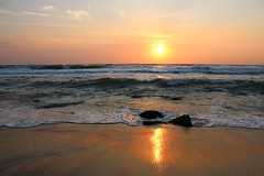 At sunrise (YanBiBiYan) Tags: sunrise dawn east sun sunshine horizont water stone sea marine sands reflection reverberation waves foamy light colorful beach beautiful bulgaria canon