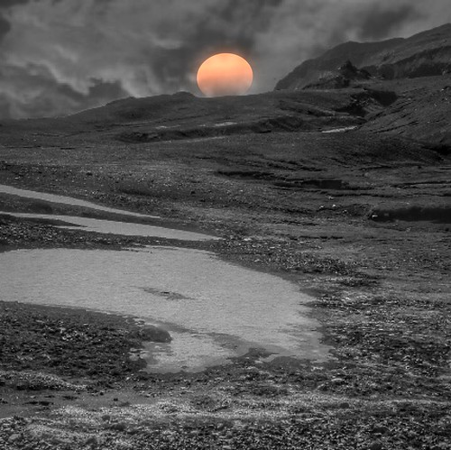 Iceland ~ Landmannalaugar Route ~  Ultramarathon is held on the route each July ~ Waterfalls ~ Sunset