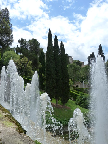 Tivoli - Villa d'Este, garden, from water organ terrace (4)