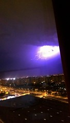 Stormy sky in Barcelona (Flossyuk) Tags: lightening storm weather nature