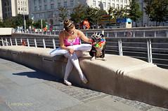 DSC06450 (liverpix) Tags: cleo dog performing anthonywalsh photowalk 500px liverpool pierhead liverbuilding ballerina ballet