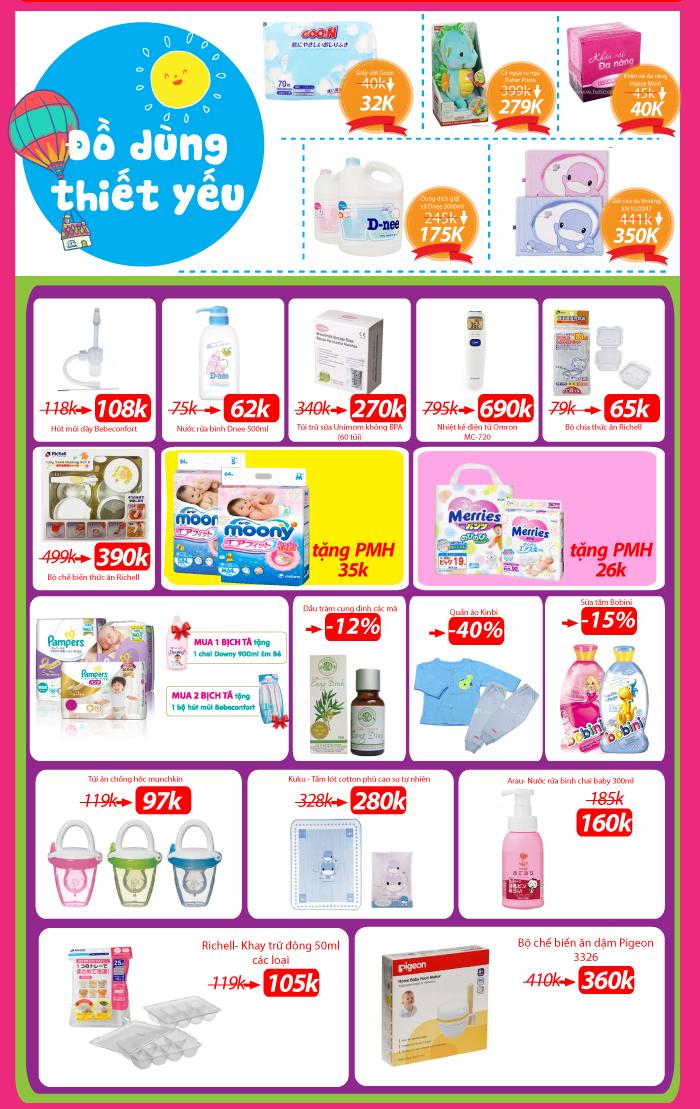 Chào tháng 10 - Giá Tốt Hốt Liền Tay (27 - 30/9) tại siêu thị Mẹ&Bé TutiCare toàn quốc