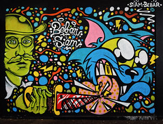 Siam    Bbar (HBA_JIJO) Tags: streetart urban graffiti vitry vitrysurseine animal art france wall mur painting bbar chat peinture cat paris94 spray bebarbarie charactere siam